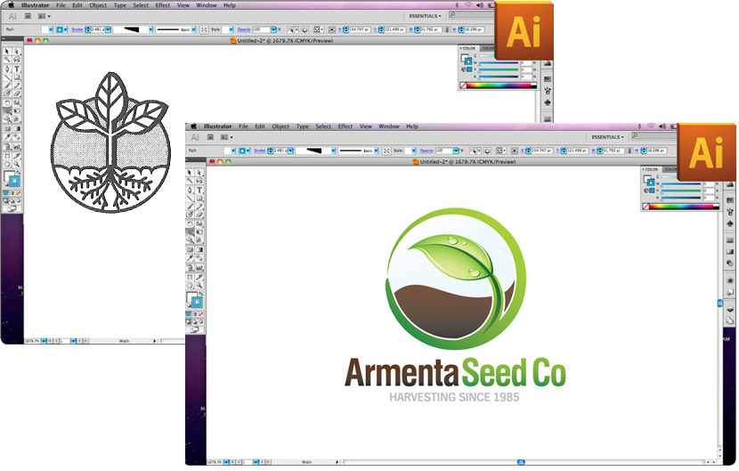Agriculture logo design optimization project