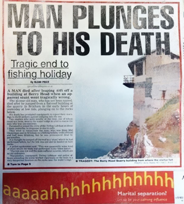 ad placement - fishing death